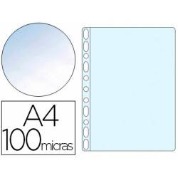 Funda Multitaladro Q-Connect DIN A4 100 MC Cristal 10 uds