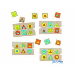 Puzzle Formas Geometricas 28 piezas a partir de 2 años Andreutoys