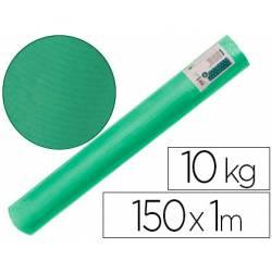 Bobina papel tipo kraft verdujado color verde musgo 1x150 mt Liderpapel