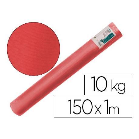Bobina papel tipo kraft verdujado color rojo 1x150 mt Liderpapel