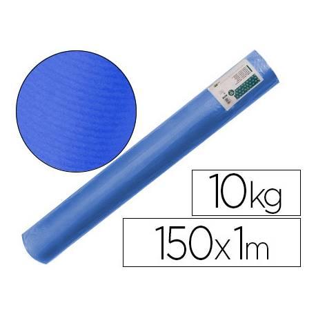 Bobina papel tipo kraft verdujado color Azul 1x150 mt Liderpapel