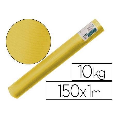 Bobina papel tipo kraft verdujado color Amarillo 1x150 mt Liderpapel