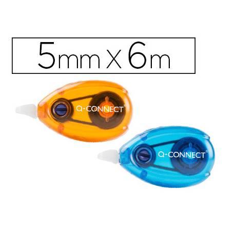 Cinta Correctora Q-Connect 5mmx6m Blister 2 unidades