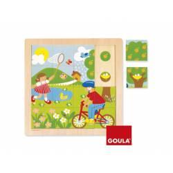 Puzzle Primavera a partir de 2 años 16 piezas Goula