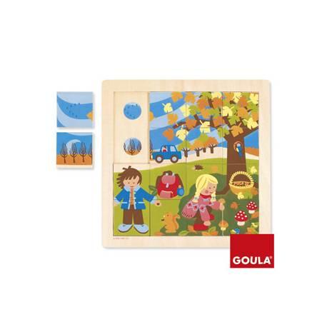 Puzzle Otoño a partir de 2 años 16 piezas Goula