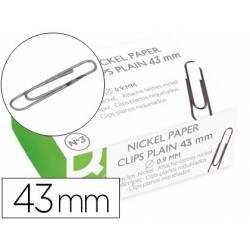 Clips niquelados Nº 3 marca Q-Connect 43 mm