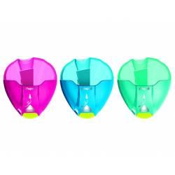 Sacapuntas de Plastico Maped I-Gloo en blister 1 uso Colores surtidos