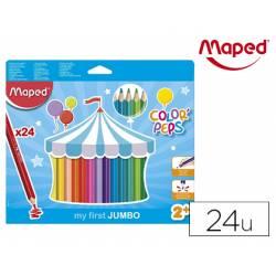 Lapices de colores Maped Color Peps Jumbo Caja de 24 unidades