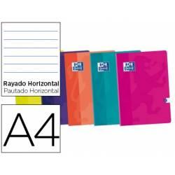 Libreta escolar Oxford DIN A4 Rayado horizontal tapa blanda colores surtidos