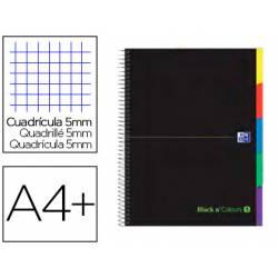 Cuaderno Oxford Ebook 5 DIN A4+ Negro y Verde 100 hojas Tapa Extradura Cuadricula 5 mm