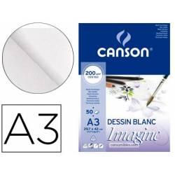 Bloc Dibujo Multitecnicas Canson DIN A3 Encolado Liso