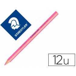 Lapices Fluorescentes Staedtler Triangular Top Star Rosa Caja de 12 unidades