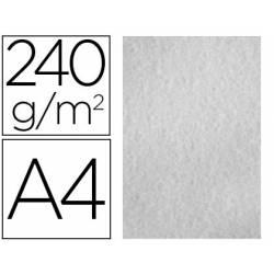 Papel Pergamino Liderpapel DIN A4 240g/m2 Color Gris Pack de 25 Hojas