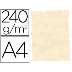 Papel Pergamino Liderpapel DIN A4 240g/m2 Color Hueso Pack de 10 Hojas Con Bordes