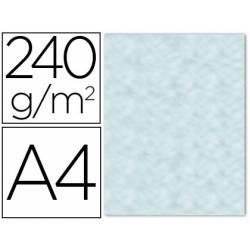 Papel Pergamino Liderpapel DIN A4 240g/m2 Color Azul Pack de 10 Hojas Con Bordes