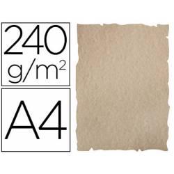 Papel Pergamino Liderpapel DIN A4 240g/m2 Color Arena Pack de 10 Hojas Con Bordes