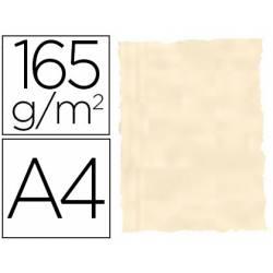 Papel Pergamino Liderpapel DIN A4 165g/m2 Color Hueso Pack de 25 Hojas Con Bordes