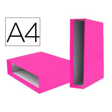 Caja Archivador Liderpapel Documenta A4 Lomo 75 mm color Rosa