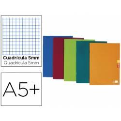Libreta Escolar Liderpapel Scriptus Grapada Din A5+ Cuadrícula 5 mm de Colores Surtidos