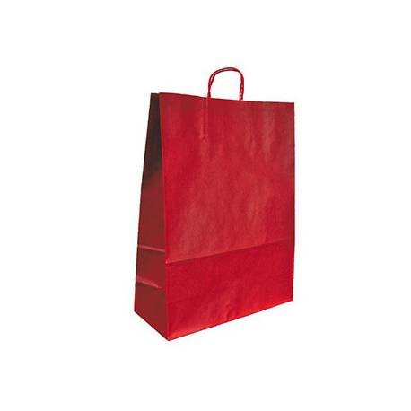 Bolsa Kraft Q-connect Rojo de 420x190x480 mm