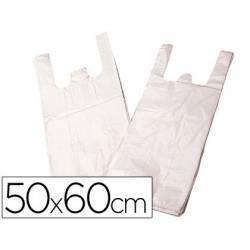 Bolsa de plastico camiseta 50x60 cm con 2 asas biodegradable