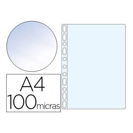 Funda Multitaladro Q-Connect DIN A4 100 MC Cristal Caja 100