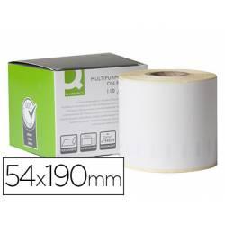 Etiqueta Adhesiva Q-Connect KF 18543 Compatible Dymo 54x190 mm Caja de 110 uds