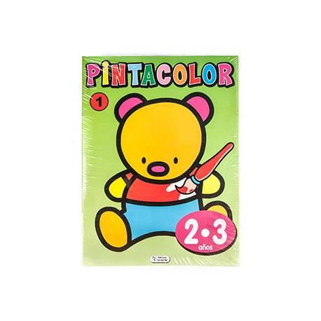 Cuaderno de Colorear Pinta Color 2 a 3 años 16 Páginas