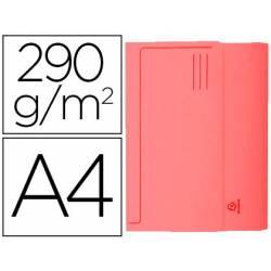 Subcarpeta Cartulina Reciclada DIN A4 Exacompta con bolsa Rojo 290 gr