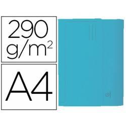 Subcarpeta Cartulina Reciclada DIN A4 Exacompta con bolsa Celeste 290 gr