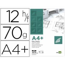 Papel Vegetal Liderpapel DIN A4+ de 70g/m2 12 hojas