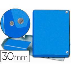 Carpeta de Proyectos Pardo Folio Cartón forrado con Broche Lomo 30mm Color Azul