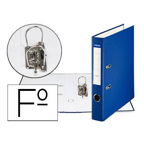Archivador de Palanca Esselte Carton Forrado Folio Lomo de 50 mm color Azul
