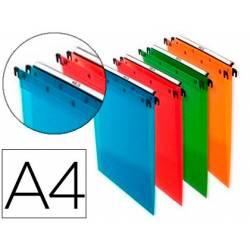 Carpeta Colgante Elba DIN A4 de Polipropileno Colores Surtidos Pack de 10 Unidades