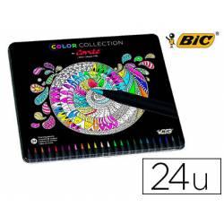 Lapices de colores marca Bic Color Collection by Conte 24 unidades