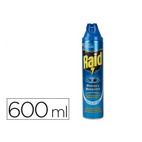 Insecticida marca Raid spray moscas y mosquitos