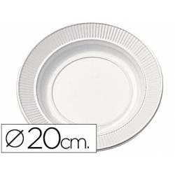 Plato de plastico llano 20cm