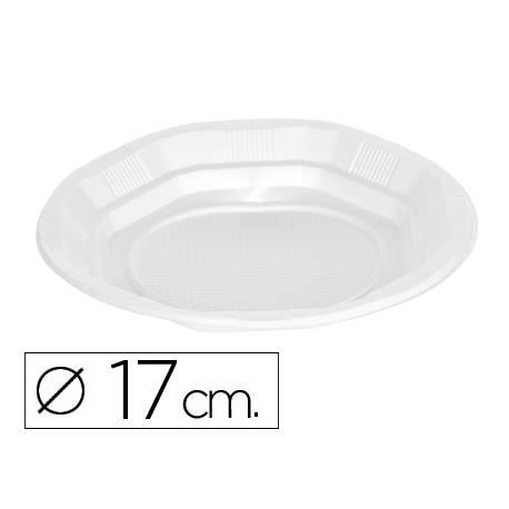 Plato de plastico 17cm color blanco