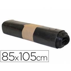 Bolsa basura industrial biznaga negra 85x105cm galga 120 rollo 10 unidades