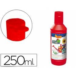 Pintura multiuso Jovidecor 250 ml color bermellon