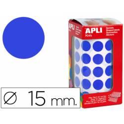 Gomets Apli circulares color azul 15mm