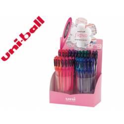 Expositor Boligrafo uni ball um-120 signo 0,7 mm tinta gel Con 48 unidades Colores basicos