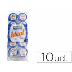 Leche evaporada Nestle 7,5 gramos en envase de 10 unidades