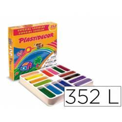 Lapices cera Plastidecor 352 unidades