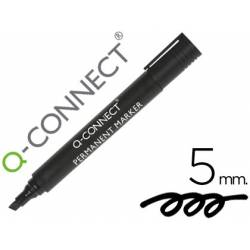 Rotulador permanente Q-Connect color negro 5mm