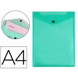 Carpeta Liderpapel dossier broche polipropileno din A4 verde