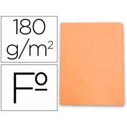Subcarpetas de cartulina Gio folio naranja pastel 180 g/m2