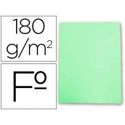 Subcarpetas de cartulina Gio folio verde pastel 180 g/m2