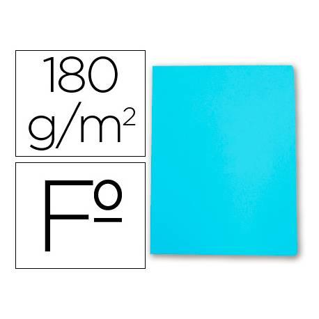 Subcarpetas de cartulina Gio folio azul celeste pastel 180 g/m2