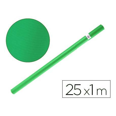Bobina papel tipo kraft Liderpapel 25 x 1 m verde malaquita